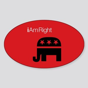 i Am Right Oval Sticker