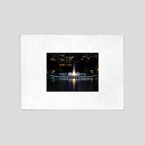fountain in pittsburgh 5'x7'Area Rug