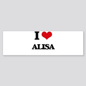I Love Alisa Bumper Sticker