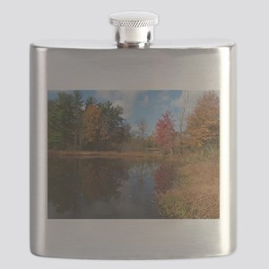 autumn in cleveland Flask