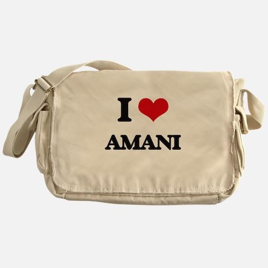 I Love Amani Messenger Bag