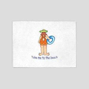 TAKE ME TO THE BEACH 5'x7'Area Rug