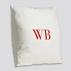 WB-bod red2 Burlap Throw Pillow