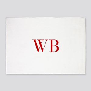 WB-bod red2 5'x7'Area Rug