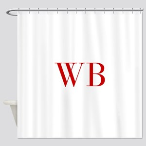 WB-bod red2 Shower Curtain