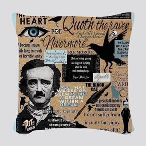 Poe Woven Throw Pillow