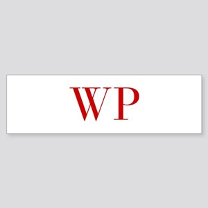 WP-bod red2 Bumper Sticker