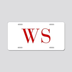 WS-bod red2 Aluminum License Plate