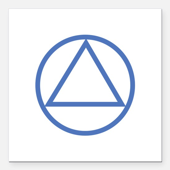 """ALCOHOLICS ANONYMOUS Square Car Magnet 3"""" x 3"""""""