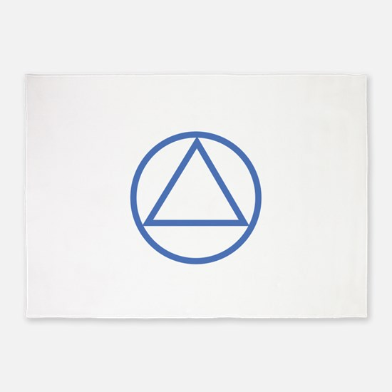 ALCOHOLICS ANONYMOUS 5'x7'Area Rug