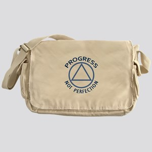 PROGRESS NOT PERFECTION Messenger Bag