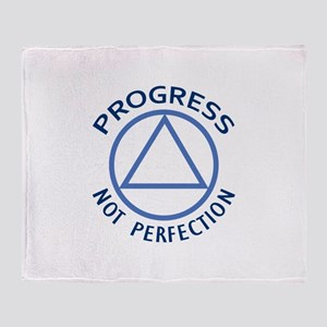 PROGRESS NOT PERFECTION Throw Blanket