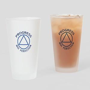PROGRESS NOT PERFECTION Drinking Glass