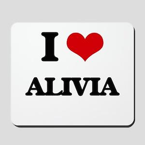 I Love Alivia Mousepad