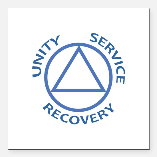 """UNITY SERVICE RECOVERY Square Car Magnet 3"""" x 3"""""""