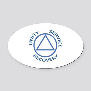 UNITY SERVICE RECOVERY Oval Car Magnet