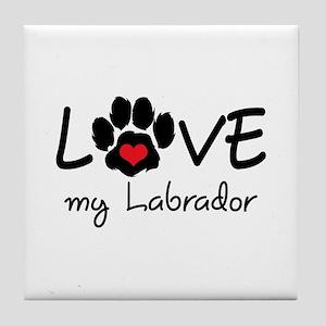LOVE MY LABRADOR Tile Coaster