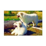 Great Pyrenees in the Sun Mini Poster Print