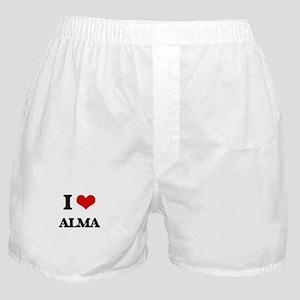 I Love Alma Boxer Shorts