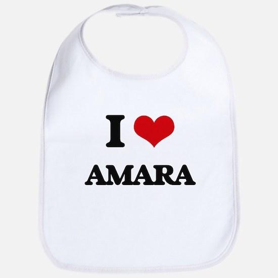 I Love Amara Bib