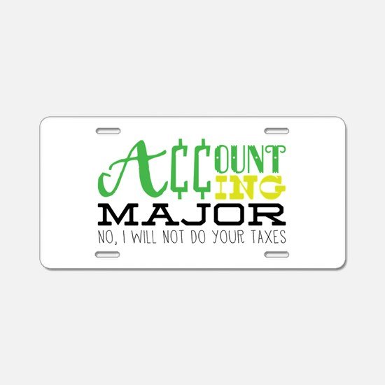 Not Your Taxes Aluminum License Plate