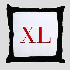 XL-bod red2 Throw Pillow