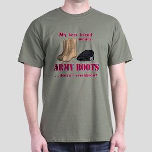 Best Friend's Boots Dark T-Shirt