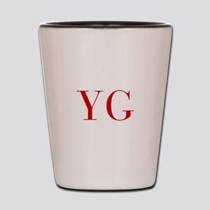 YG-bod red2 Shot Glass
