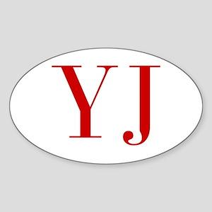 YJ-bod red2 Sticker