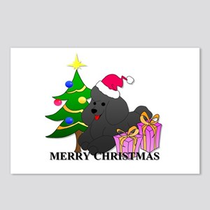 Poodle Christmas Postcards (Package of 8)