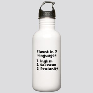 Fluent In 3 Languages Water Bottle