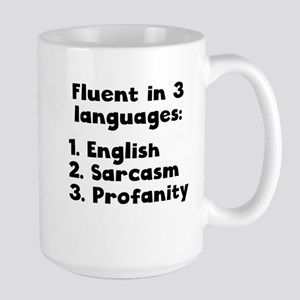 Fluent In 3 Languages Mugs