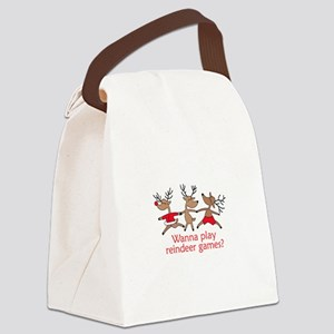 REINDEER GAMES Canvas Lunch Bag