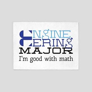Good With Math 5'x7'Area Rug