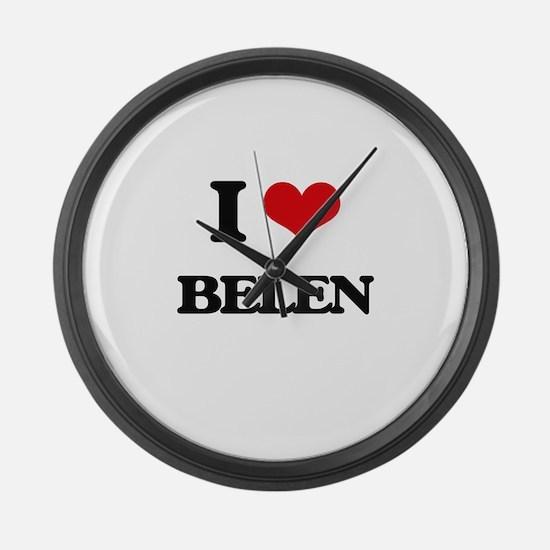 I Love Belen Large Wall Clock