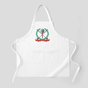 Golf Ball, Tee & Clubs Emblem BBQ Apron