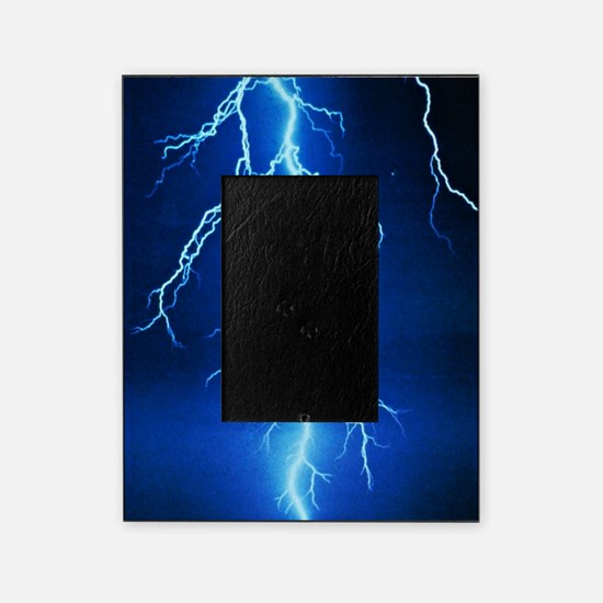 Blue Lightning Bolt Picture Frame