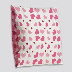 Valentine Sweet Hearts or XOXO Burlap Throw Pillow