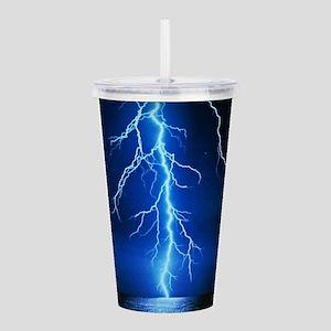 Blue Lightning Bolt Acrylic Double-wall Tumbler
