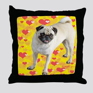 Love Pug Throw Pillow
