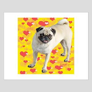 Love Pug Small Poster