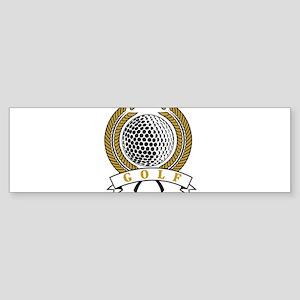 Classic Golf Emblem Bumper Sticker