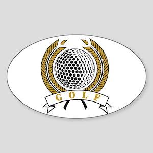 Classic Golf Emblem Oval Sticker