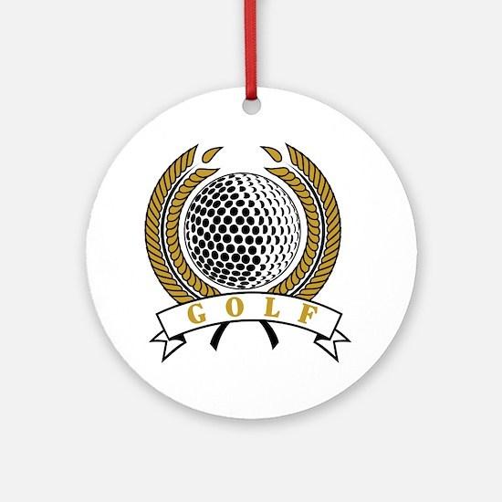 Classic Golf Emblem Ornament (Round)