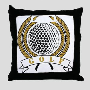 Classic Golf Emblem Throw Pillow