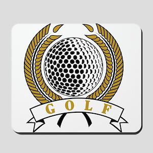 Classic Golf Emblem Mousepad
