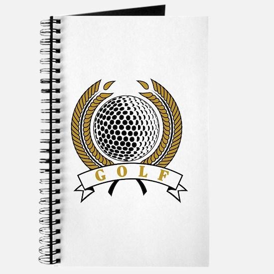 Classic Golf Emblem Journal