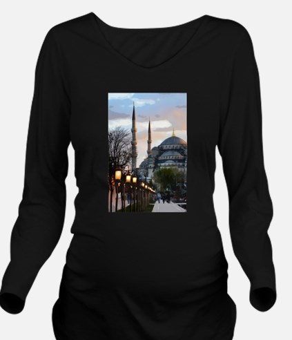 Mosque in Istanbul Long Sleeve Maternity T-Shirt