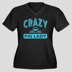 Crazy Pig Lady Plus Size T-Shirt