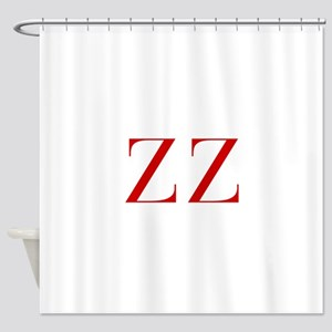 ZZ-bod red2 Shower Curtain